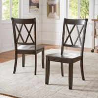 Verona Home Marigold Hill X Back Chairs in Antique Black (Set of 2)