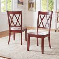 Verona Home Marigold Hill X Back Chairs in Rich Berry (Set of 2)