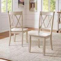 Verona Home Marigold Hill X Back Chairs in Antique White (Set of 2)