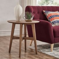 Verona Home Promesa Danish Wood Accent Table in Walnut