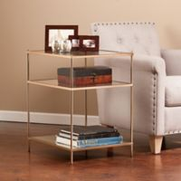 Southern Enterprises Knox Side Table in Gold