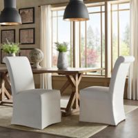 Verona Home Auburn Hills Rolled Side Chairs in Off-White (Set of 2)
