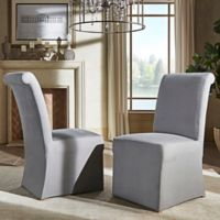 Verona Home Auburn Hills Rolled Side Chairs in Grey (Set of 2)