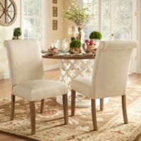 Verona Home Auburn Hills Rolled Side Chairs in Beige (Set of 2)