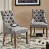 Verona Home Treviso Button-Tufted Dining Chairs in Grey (Set of 2)