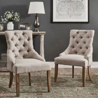 Verona Home Treviso Button-Tufted Dining Chairs in Beige (Set of 2)