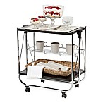 IRIS® Foldable Serving Cart in Black