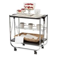 IRIS USA® Foldable Serving Cart In Black