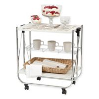 IRIS USA® Foldable Serving Cart in White