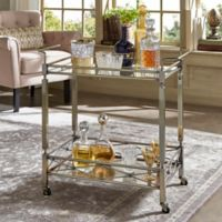 Verona Home Goethe Bar Cart in Antique Brass