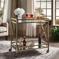 Verona Home Grenshaw Bar Cart in Antique Brass