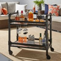 Verona Home Gunnison Industrial Bar Cart in Bronze/Black
