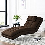 image of Lifestyle Solutions Vaugn Convertible Chaise in Dark Brown & Madison Park Archdale Bent Arm Recliner - Bed Bath u0026 Beyond islam-shia.org