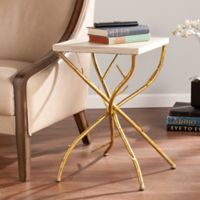 Southern Enterprises Nymeria Branch Accent Table in Antique Gold