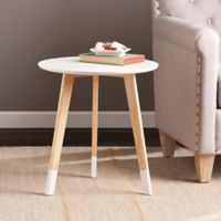 Southern Enterprises Neelan Round Accent Table in White