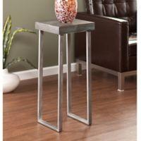 Southern Enterprises Nolan Pedestal Accent Table in Oak