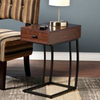 Southern Enterprises Porten Side Table in Walnut