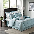 Madison Park Stratford Queen Comforter Set in Aqua