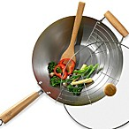 Infuse® 4-Piece Carbon Steel Wok Set by Tabletops Unlimited®