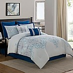 Verona 8-Piece Queen Comforter Set in Navy