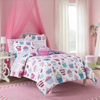 VCNY Cupcake World 3-Piece Full Comforter Set in Pink