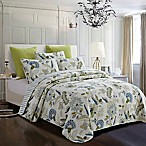 Emma Vines King Quilt Set in Blue