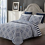 Tyra King Quilt Set in Blue