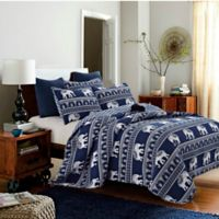 Bombay Full/Queen Quilt Set in Navy