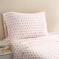 Coastal Life Flamingo 300-Thread-Count Twin Sheet Set in Pink