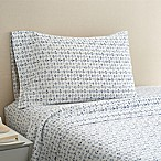 Coastal Life Anchor 300-Thread-Count Full Sheet Set in Light Blue
