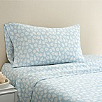 Coastal Life Shell 300-Thread-Count Standard Pillowcase Pair in Light Blue