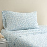 Coastal Life Shell 300-Thread-Count King Pillowcase Pair in Light Blue