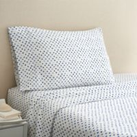 Coastal Life Dot 300-Thread-Count King Pillowcase Pair in Blue/White