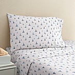 Coastal Life Boat 300-Thread-Count King Pillowcase Pair in Navy