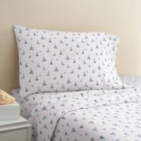 Coastal Life Boat 300-Thread-Count Full Sheet Set in Navy