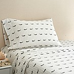 Coastal Life Whale 300-Thread-Count Queen Sheet Set in Light Grey