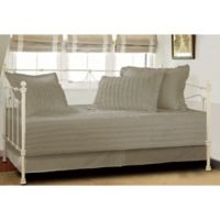 Ruffled Daybed Quilt Set in Taupe