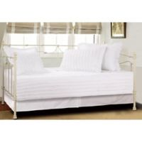 Ruffled Daybed Quilt Set in White