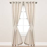 Pawleys Island® Sunbrella® Fretwork 108-Inch Grommet Top Outdoor Curtain Panel in Flax