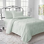 Lemon Tree Riley Jersey Reversible Full/Queen Quilt in Mint