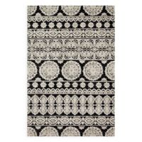 Magnolia Home by Joanna Gaines Lotus 2-Foot 3-Inch x 3-Foot 9-Inch Accent Rug in Black/Silver