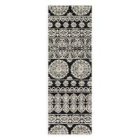 Magnolia Home by Joanna Gaines Lotus 2-Foot 6-Inch x 7-Foot 6-Inch Runner in Black/Silver