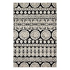 Magnolia Home by Joanna Gaines Lotus 5-Foot x 7-Foot 6-Inch Area Rug in Black/Silver