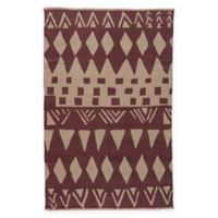 Jaipur National Geographic Home Flat Weave Tiebele 5-Foot x 8-Foot Area Rug in Stone
