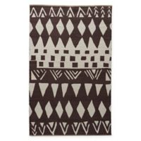 Jaipur National Geographic Home Flat Weave Tiebele 5-Foot x 8-Foot Area Rug in Black/White