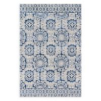 Magnolia Home by Joanna Gaines Lotus 3-Foot 6-Inch x 4-Foot 8-Inch Accent Rug in Blue/Ivory