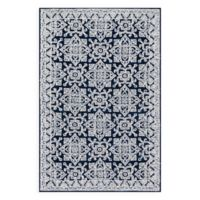 Magnolia Home by Joanna Gaines Lotus 7-Foot 9-Inch x 9-Foot 9-Inch Area Rug in Midnight/Silver