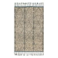 Magnolia Home by Joanna Gaines Tulum 2-Foot x 3-Foot Accent Rug in Stone/Blue