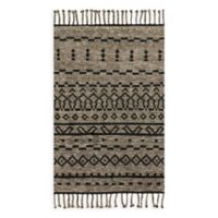 Magnolia Home by Joanna Gaines Tulum 4-Foot x 6-Foot Area Rug in Graphite/Black