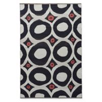 Jaipur National Geographic Home Flat Weave Niamey 5-Foot x 8-Foot Area Rug in Dark Grey